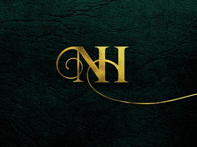 NH monogram wedding design wedding invite wedding invitation nh monogram wedding logo wedding