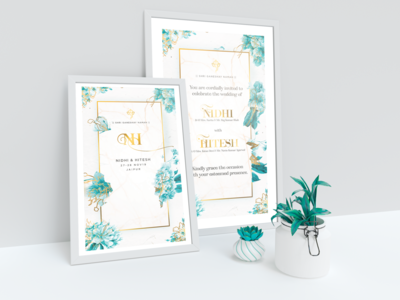 NH wedding poster Design