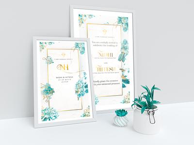 NH wedding poster Design contemprary nh wedding invitation wedding gimp illustration