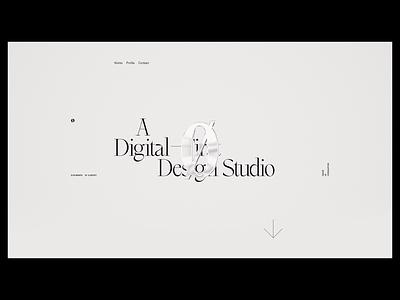 Outpost - Concept Exploration #2 layout website web design c4d glass typography cinema 4d ui design logo minimal colour branding