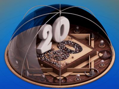 2020 particles 2020 3d desig