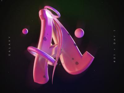 A color 3d design 3d design alphabet letter a