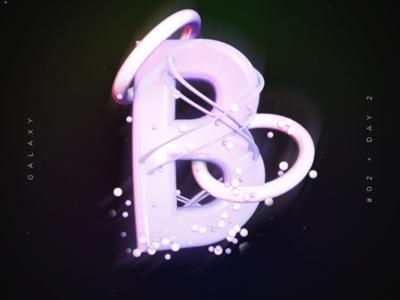 B alphabet galaxi b letter 3d design design