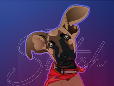 My Dog Stitch adobe illustrator friend pet dog vector illustration design illustration