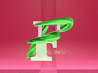 Letra F alphabet 3d desing illustration design motion 36daysoftype type after effects c4d animation 3d animation cinema 4d motion graphics