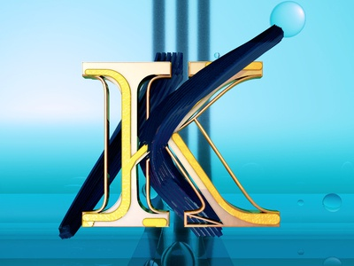 Letra K 3d desing c4d after effects 36daysoftype alphabet type motion graphics animation 3d animation cinema 4d