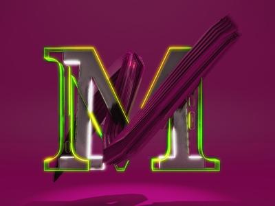 Letra M type alphabet 3d animation motion motion graphics c4d design 36daysoftype cinema 4d