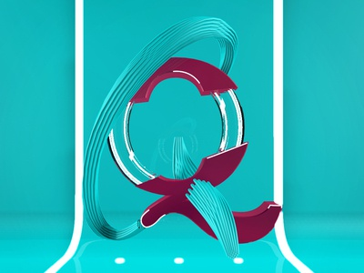 Letra Q design alphabet type after effects 36daysoftype 3d animation cinema 4d motion graphics