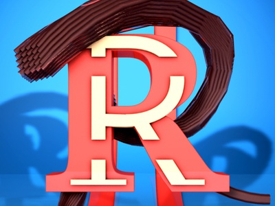 Letra R desing type alphabet 36daysoftype after effects 3d animation cinema 4d animation