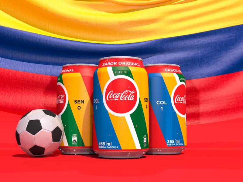 Coca-Cola #ClasificationCans Sen 0 - Col 1 coke cocacola 3dmodel 3ddesign motion 3d futbol senegal clasificationcan clasificationcan coca-cola