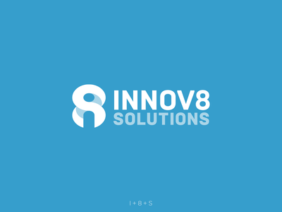 Innov8 Solutions Logo icon wordmark typography lettermark vector logo design identity branding negative tech logo logo technology s 8 i