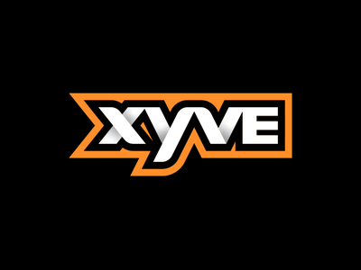 Xyve lettermark vector typography gradient design wordmark logo branding logo design