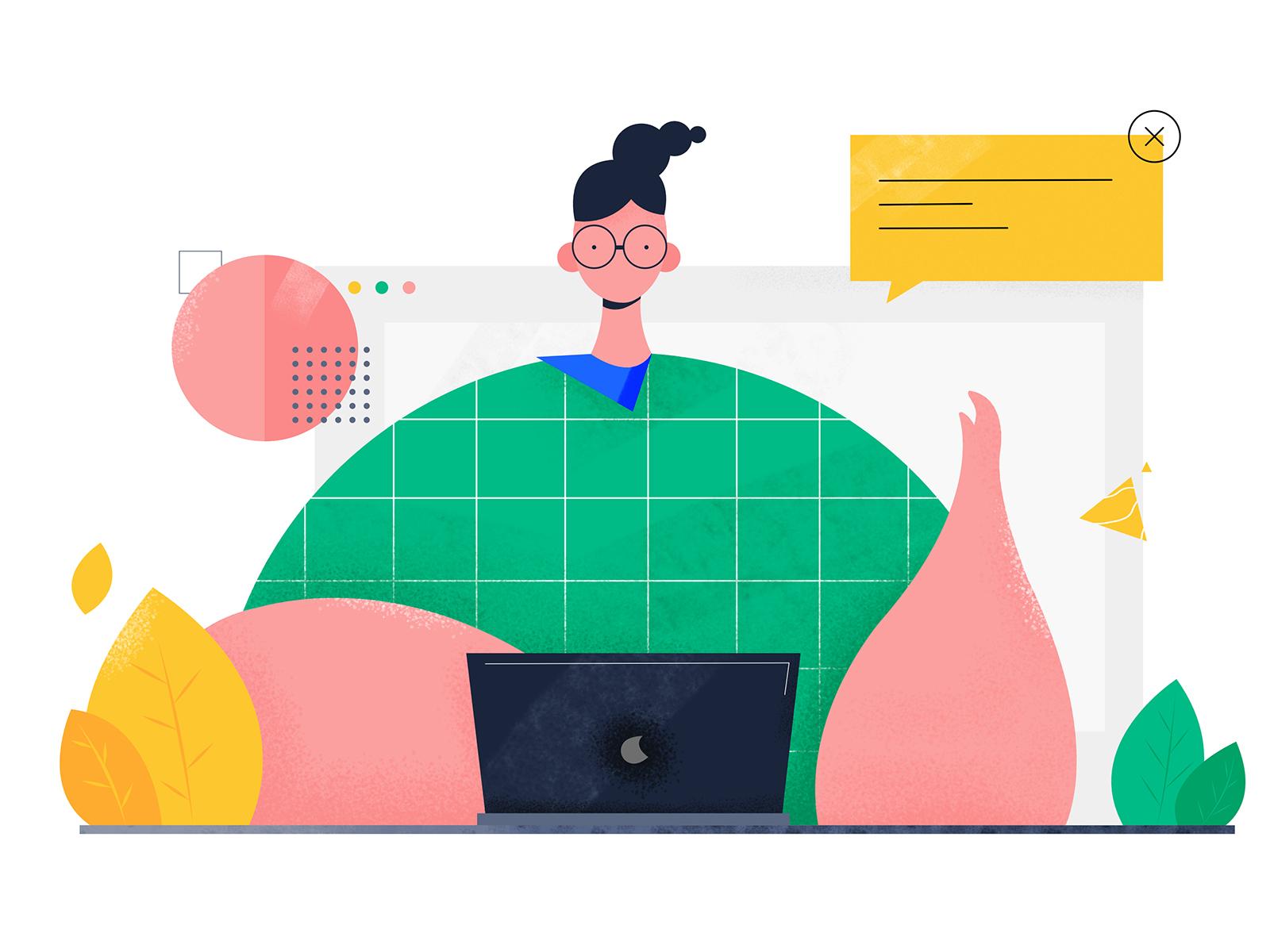 Web illustration 4x