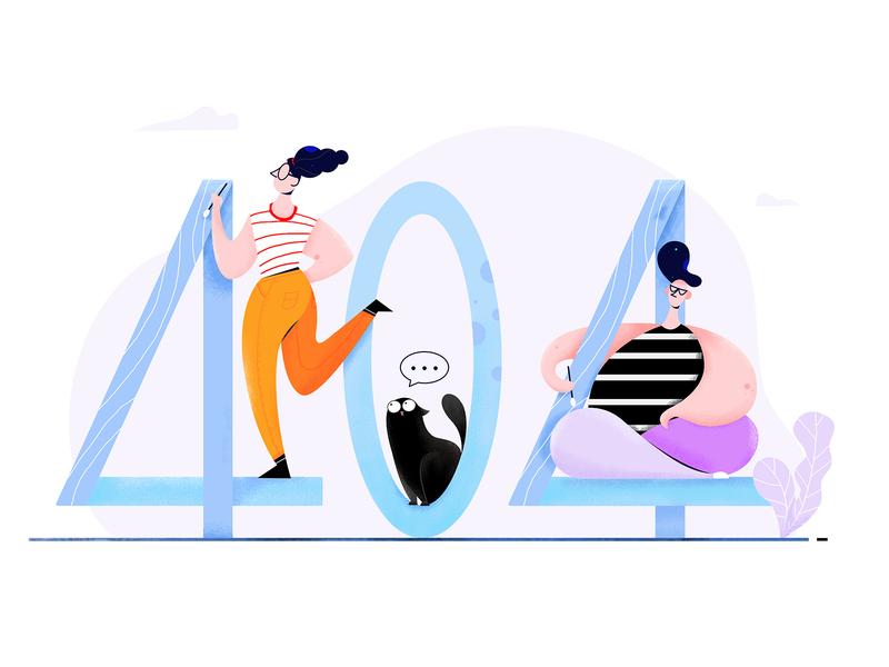 404 Illustration man ux ui website web drawing woman people character illustrator illustration error color 404
