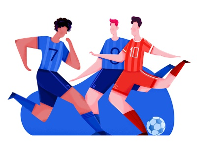 Soccer game young fun play football sport soccer group mate team friend woman affinity designer uran girl boy man people character illustration