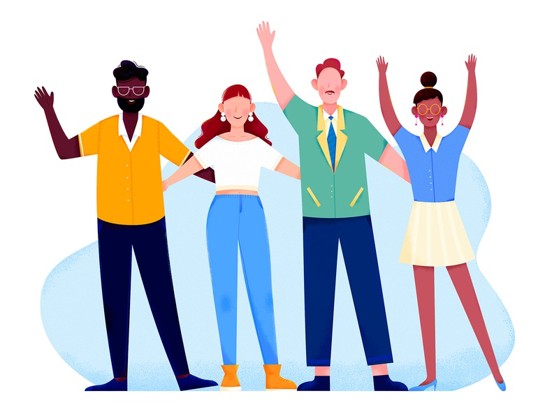 Global Workforce partner mate friend global group employee workforce team business office work woman girl affinity designer uran boy man people character illustration
