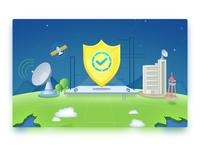 Security satellite base station