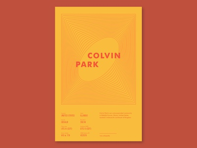 Wikipedia Challenge - Colvin Park wikipedia poster designer posters layout design design typography