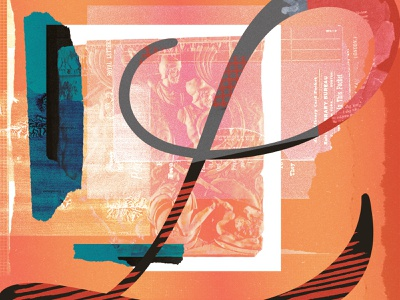 L collageart graphicdesign graphic collage typogaphy design