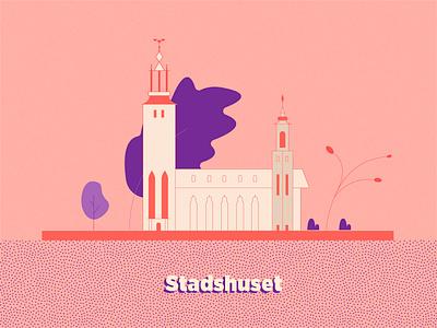 Stockholm Stadshuset stadshuset sweden stockholm landmark architecture vector illustration design