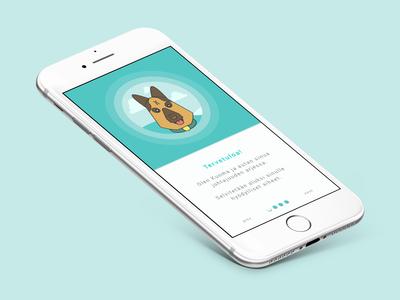 Dog illustration for app