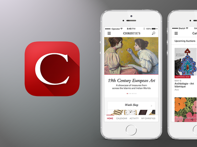 Christie's redesign iphone 5s app icon ecommerce art ui ios