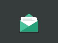 Flat Mail Icon Rebound