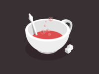 Red, bubbly tea
