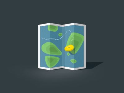 Map Icon - Free shape layered psd map icon flat psd