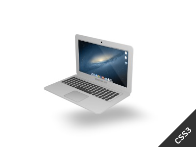 CSS Only 3D MacBook Air Animation 3d macbook animation css