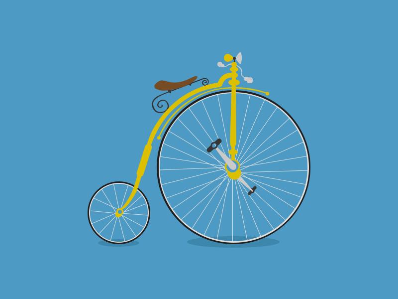 Old Bicycle flat bicycle rebound