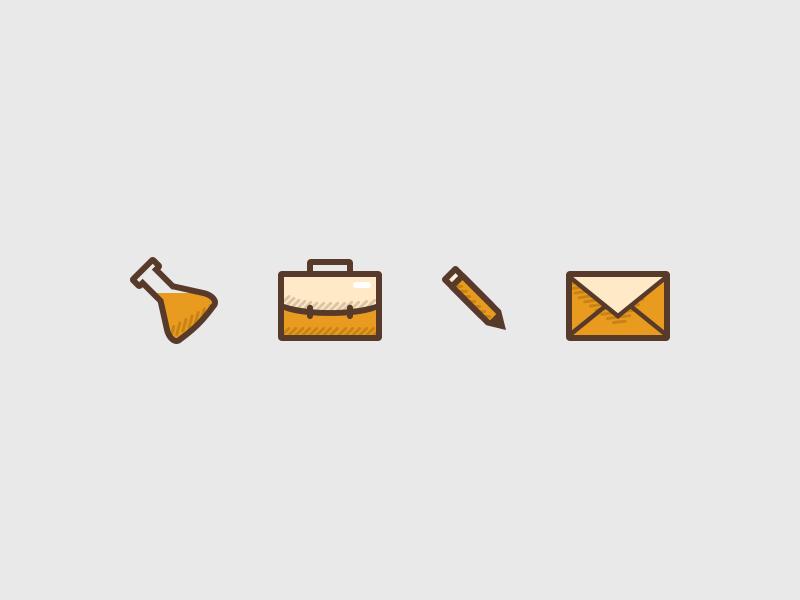 Some icons icon orange clean