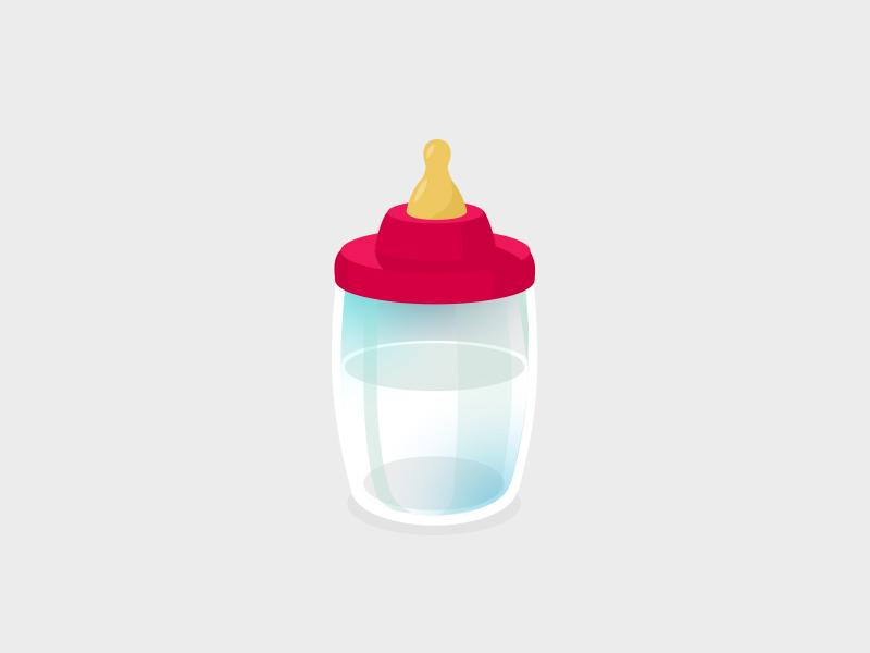 Baby Bottle baby bottle vectoral illustration