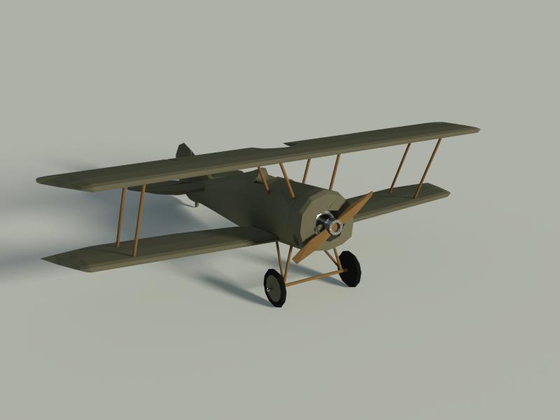 Thomas Morse S4 plane 3d low-poly