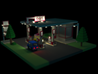 Gas Station - voxel remake