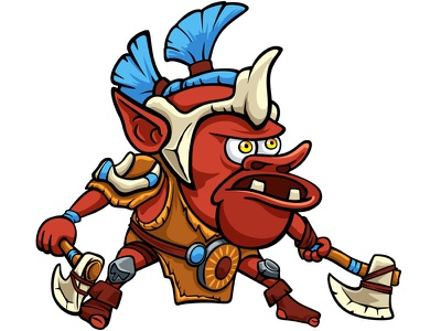 Spanch Troll sticker doodlepark dota2 earthshaker vector photoshop