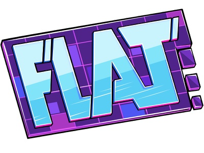 Flat word word logo doodlepark photoshop vector sticker game flat