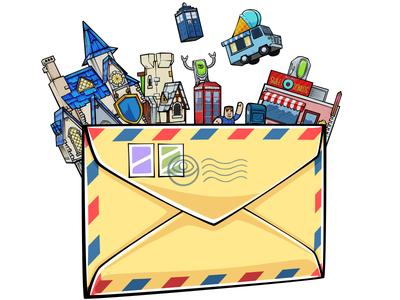 Free delivery! illustration battle game photoshop vector doodlepark mail