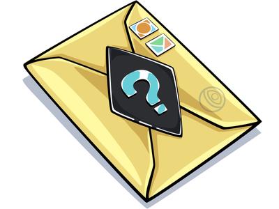 Random mail illustration battle game photoshop vector sticker doodlepark