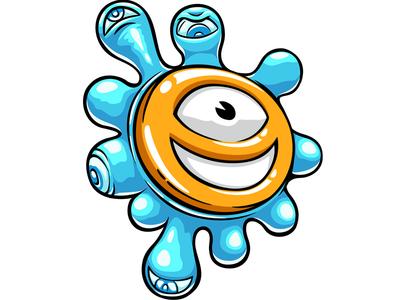 Slack illustration battle logo game photoshop vector sticker doodlepark