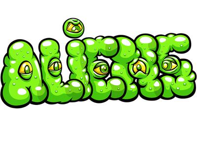 Aliens illustration battle logo game photoshop vector sticker doodlepark