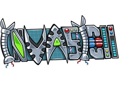 invasion illustration logo battle game photoshop vector sticker doodlepark
