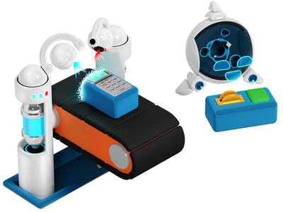 Object printer design illustration printer bot blender3d photoshop