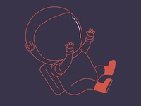 Astronaut illustration for an afterparty event