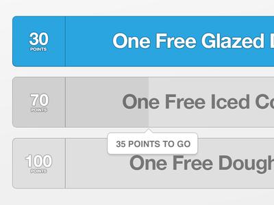 Rewards Progress css2 animations rewards blue progress tooltip simple flat