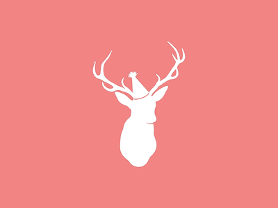 SarahArel.com catering deer party hat fun logo brand pink animal food party planning