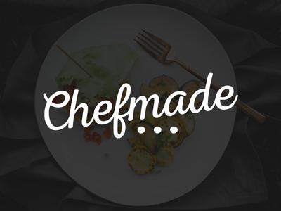 Chefmade cursive food chicago startup chef branding logo