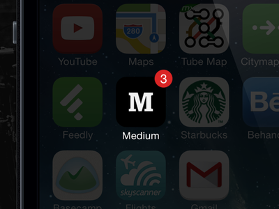 Medium.com App Design