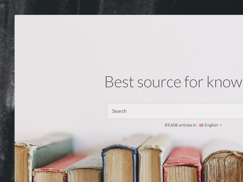 Clean homepage layout landing page cover website photo books wiki clean pastel search encyclopedia gray typography