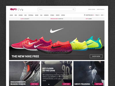 Online Store store sport shop ecommerce masonry photos homepage product online clothing